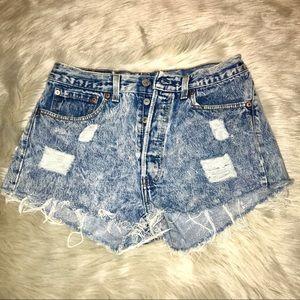 Vintage Levi's Distressed Daisy Dukes Shorts